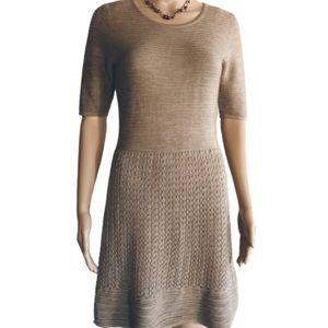Cynthia Rowley tan cable knit dress